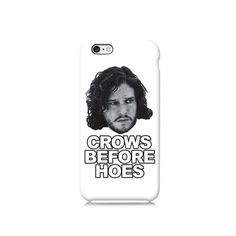 Game of Thrones Crows Before Hoes Funny iPhone case, iPhone 6 case, iPhone 4 case iPhone 4s case, iPhone 5 case 5s case and 5c case