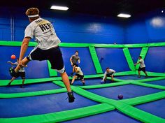 Unlimited or One-Hour Jump Passes for One, Two, or Four at AirHeads Trampoline Arena (Up to Off) Birthday Party At Park, Birthday Party Places, Indoor Trampoline, Trampoline Park, Grip Socks, Holiday Hours, Team Building Events, Company Gifts, Home Sport