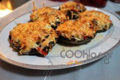 Μανιτάρια πορτομπέλο γεμιστά - Συνταγή εύκολες - Σχετικά με Ορεκτικά, Ορεκτικά, Ζεστά ορεκτικά, Λαχανικά, Λαχανικά διάφορες - Ποσότητα 4 άτομα - Χρόνος ετοιμασίας λιγότερο από 60 λεπτά