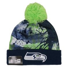 ff6810186 NFL Seattle Seahawks NEW ERA Scenic Cover Splatter Sport Knit Hat  NewEra  SeattleSeahawks  Nfl