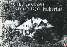 """Lata 1985-1990 , Żegiestów. Motel """"Ruczaj"""".  Pocztówka reklamowa. (fotopolska.eu)"""
