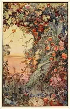 Edward Detmold: Fruits of the Earth, a beautiful apple tree illustration