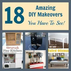 You'll be amazed at these DIY Makeovers! You'll need to see the end results to believe these transformations. Start looking for your old...