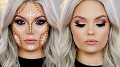 Today I'm showing you how to contour and highlight a round face shape. This creates shadows to help give the illusion of a chiseled and sculpted face. I show...