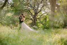 A Romantic Texas Garden Wedding With a Sweeping Vera Wang Gown | PhotoHouse Films | See More! http://heyweddinglady.com/ethereal-texas-garden-wedding-in-gray-pink-and-gold/