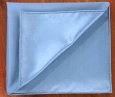 Foggy Blue Satin Silk Pocket Square #6