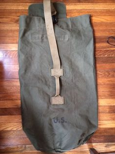 WWII US ARMY DUFFLE BAG Olive-Khaki TRANSITIONAL Extra Clean! TWEEDIES 1943 RARE