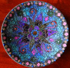 Mosaic plate. Safety glass.