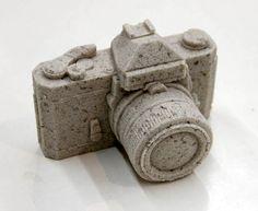 Glass Stone & Sand Camera Sculptures by Daniel Arsham