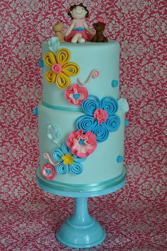 steal this idea... amateur cake decorators can use candy like licorice whips, strips of fruit roll ups or strips of taffy to do quilling design flowers and curly ques