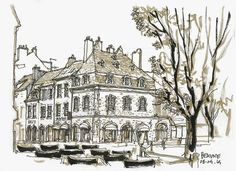 SKETCHING THE PLACE: BOURGOGNE 2014