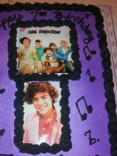 one direction cake for my daughters 7th birthday
