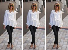 classic white button down shirts ... can't be without it in your closet :)