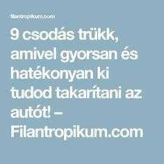 9 csodás trükk, amivel gyorsan és hatékonyan ki tudod takarítani az autót! – Filantropikum.com