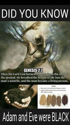 ALL people on earth come from black people. Adam and Eve were black. Only from black people you can get ever other form of people: whites (albino's), Asian looking, light eyes etc. Research IT and see for yourself. Noah of the ark was a black albino according to the bible with a black wife. NO other way is possible. #HebrewIsraelites spreading TRUTH #ISRAELisBLACK