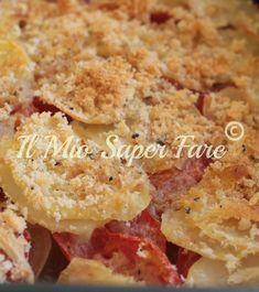Patate Arraganate ricetta facile ,economica per un secondo piatto o contorno semplice e saporito. Dette anche patate raganate. Sapori e profumi mediterranei