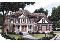 front on one plane: Blaylock - Home Plans and House Plans by Frank Betz Associates