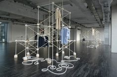 Bonsoir Paris is the French design duo of Rémy Clemente and Morgan Maccari who create installations for retail, temporary spaces, set design and also product design. This year in Milan, they created a popup store for British label COS.