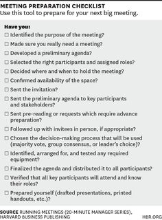 A Checklist for Planning Your Next Meeting