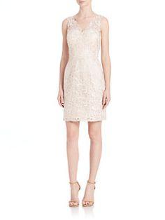 Aidan Mattox Bridesmaids - Sleeveless Lace Dress