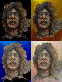 sir mick, by marian hergouth Portrait, Artist, Artwork, Painting, Canvas, Drawing S, Work Of Art, Men Portrait, Painting Art
