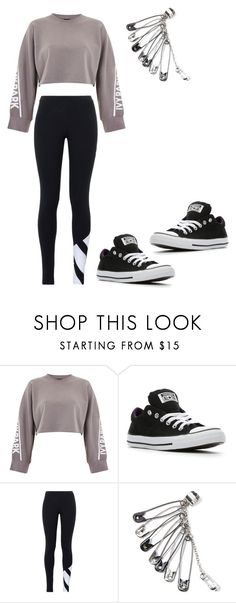 """Untitled #86"" by theworldofzara on Polyvore featuring Ivy Park, Converse and adidas Originals"