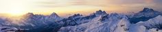 Panoramic Mountains at Sunrise by TravelStock on Creative Market