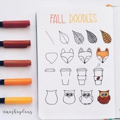 Masha easy fall doodle tutorial in my bullet journal bujo bulletjournal tutorial masha plansig Fall doodles how-to.These beautiful fall/autumn doodles are perfect for your bullet journal, scrap book or even greeting cards.ince it's a day off, I got t Bullet Journal 2019, Bullet Journal Ideas Pages, Bullet Journal Inspiration, Bullet Journal Banner, Doodle Inspiration, Bullet Journal Lines, Bullet Journal Spending Tracker, Autumn Bullet Journal, Bullet Journal Decoration