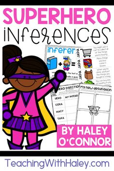 Do your students need additional practice with inferring and drawing conclusions? These activities will build your students' skills in an engaging and fun way!To introduce the lesson, your students will read a letter from local superheroes who need help defeating Mean Max! After the introduction, students will read 4 clues about a location in the community. Then, they will use their schema to make an inference and write about it.