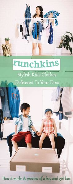Stylish kids clothes delivered to your door by @runchkins