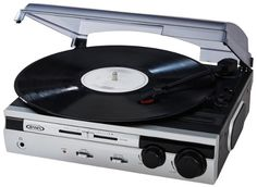 6: Jensen JTA-230S 3 Speed Stereo Turntable with Built in Stereo Speaker System (Silver, Limited Edition)