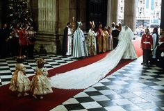 The wedding of Prince Charles of Wales to Lady Diana Spencer at St Paul's Cathedral on 29 July 1981