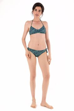 Two-piece slightly gathered swimsuit in lycra - Liberty of London