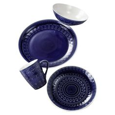 Hostess Hint: Let this lovely dinnerware set the scene while you prep the courses for a seaside feast. Wide-rimmed bowls make a perfect home for creamy crab bisque, plates are easy to mix and match with your favorite pieces, and must-have mugs bring a stylish touch to after-dinner coffee. Each piece of the Fez collection wears a unique distinction on the design, the color shade varying from one piece to another, with a reactive crackle glazed finish.