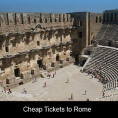 Cheap flights to Rome are available