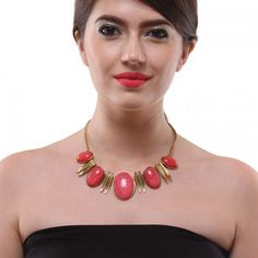 Insia Red Bauble Candy Statement Necklace #Red #Party #StatementJewelry