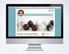 Website for Cake Pop Kitchen. Check it out at www.cakepopkitchen.co.nz