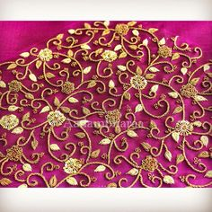 Whatsapp 9133502232 Lengha Blouse Designs, Cutwork Blouse Designs, Kids Blouse Designs, Wedding Saree Blouse Designs, Hand Work Blouse Design, Hand Designs, Bead Embroidery Tutorial, Hand Embroidery Videos, Embroidery Works