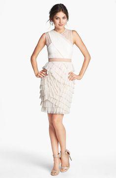 BCBGMAXAZRIA 'Jaya' Tiered Ruffle Mesh Dress available at #Nordstrom