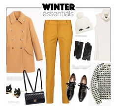 """Pea Coat and Skinny Pants'"" by dianefantasy ❤ liked on Polyvore featuring Max&Co., Raoul, Bobeau, J.Crew, Chanel, Kate Spade, Ted Baker, Betsey Johnson, Winter and polyvorecommunity"