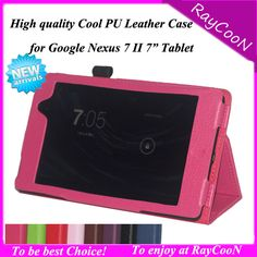 "PU leather Stand case for Google Nexus 7 2nd Tablet ,Lychee pattern businees tablet pc protective cover for nexus 7 II 7"" Tablet"