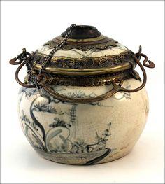 Ceramic Opium Pipe, Yunnan, South China.