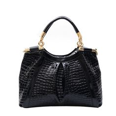 48.52$  Buy here - http://ali9z8.worldwells.pw/go.php?t=2052575560 - 2014 new European and American women fashion handbag crocodile pattern patent leather woman bag lady handbags factory outlets