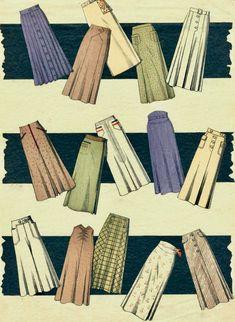 1930s Fashion, Vintage Fashion, 1930s Style, Sidewalks, Pencil Skirts, Vintage Sewing, Period, Sewing Patterns, Feminine