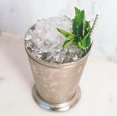 The only lasts two minutes, but you can drink these mint juleps for hours before (and after! Derby Day, Recipe Today, Kentucky Derby, Drinks, Cocktails, Planter Pots, Mint, Canning, Julep Recipe