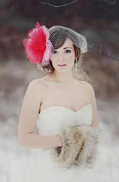 Large Tulle Puff with mini veil