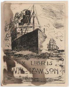 A.H. Fullwood Australian 1863-1930 Book plate