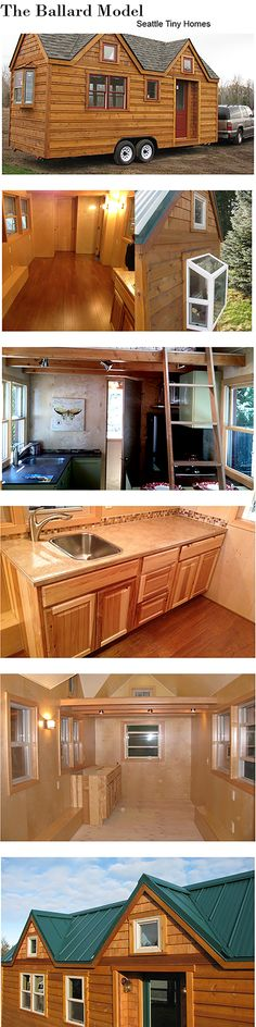 The Ballard from Seattle Tiny Homes...a design that is elegant,efficient and masterfully crafted.