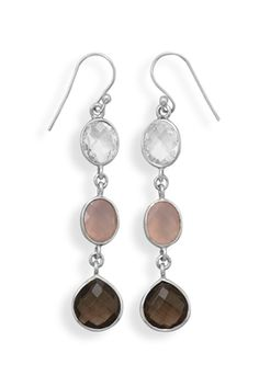 Multistone Drop Earrings