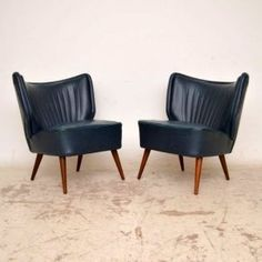 Pair of Danish Retro Cocktail Chairs Vintage 1950's